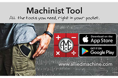 Allied Machine Launches Newest App - Machinist Tool